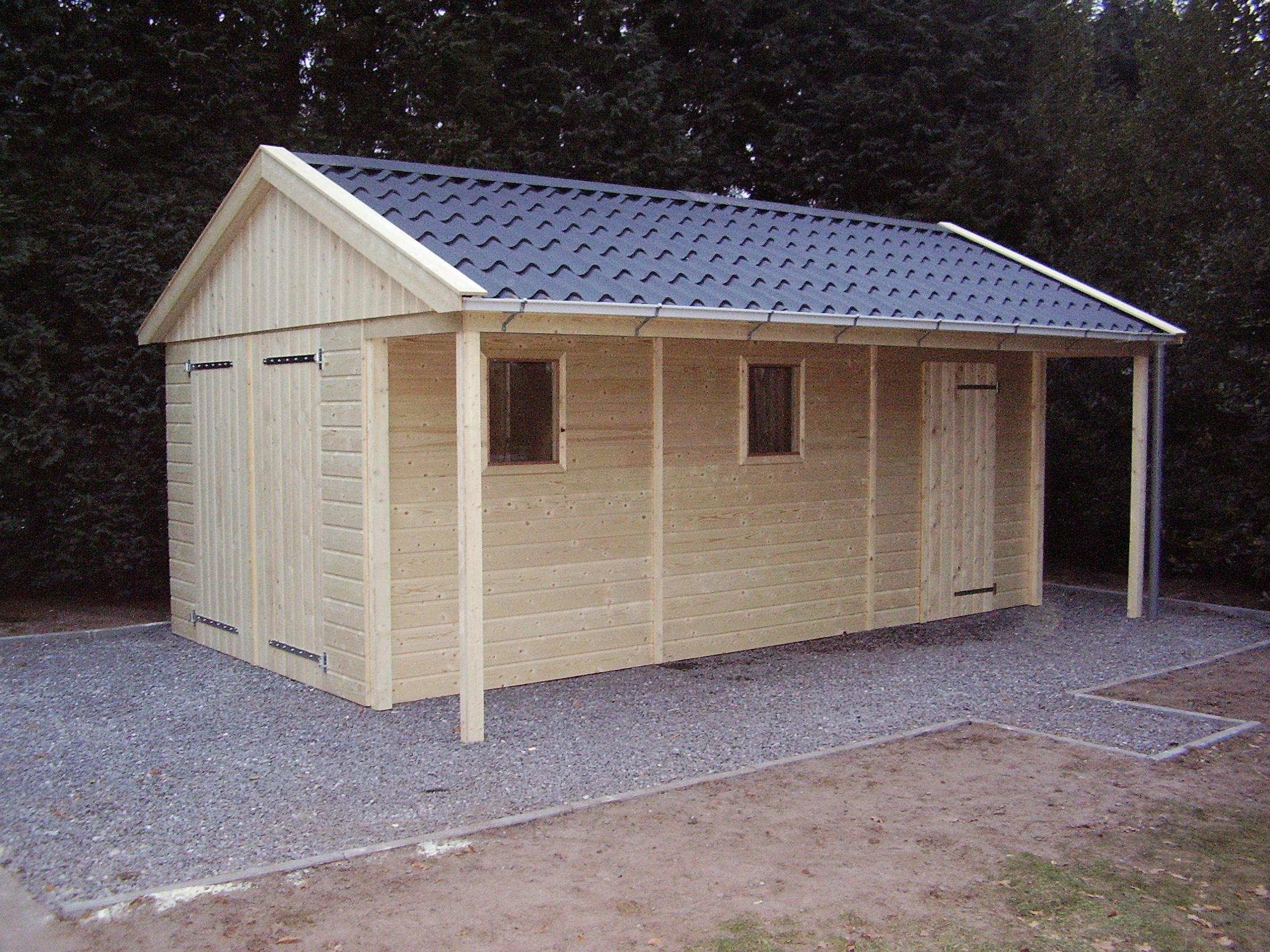 Houtbouw Garage Schuur : Houten garage goedkopeschuur.nl