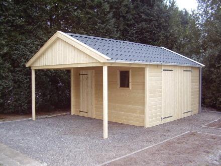 Houten Garage Kopen : Kwaliteit houten garage voor weinig goedkopeschuur